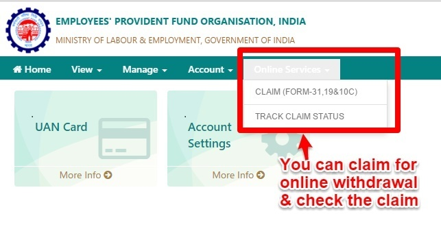 How To Claim PF Online: Process Of PF Withdrawal