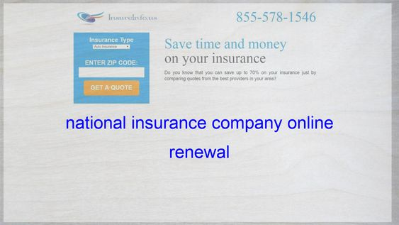National Insurance Health Insurance Renewal